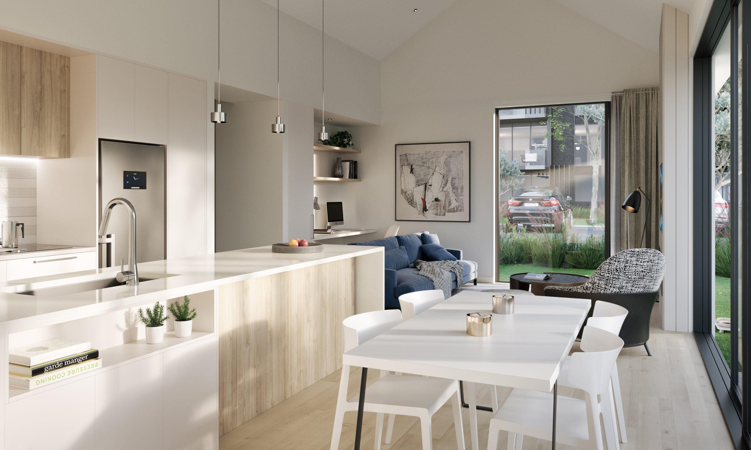retirement villa with kitchen