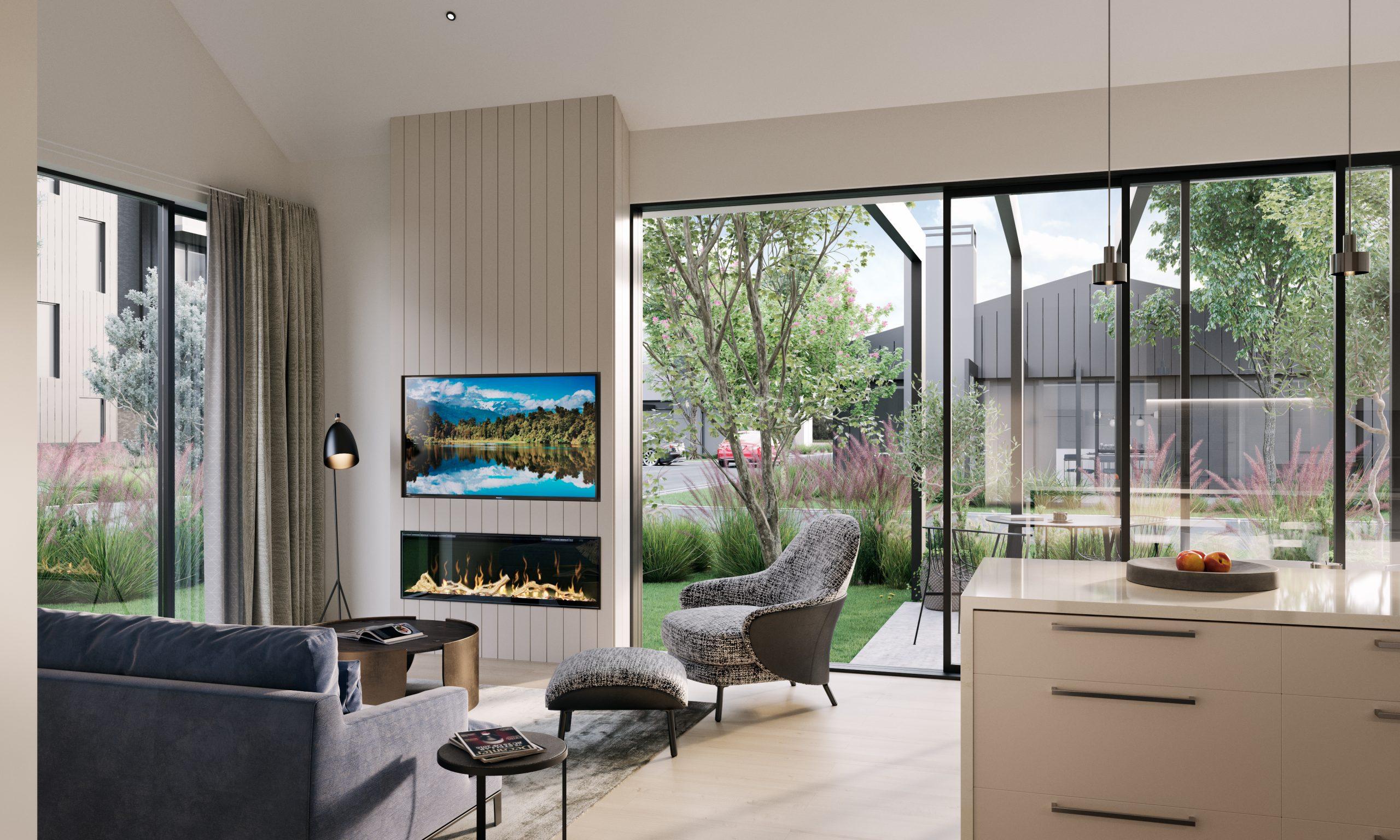 Retirement villa living room